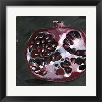 Framed Pomegranate Study on Black I