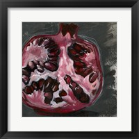 Framed Pomegranate Study on Black II