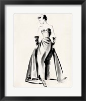 Framed Vintage Costume Sketch I
