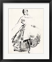 Framed Vintage Costume Sketch II