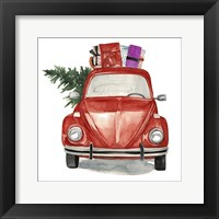 Framed Christmas Cars I