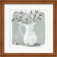 Framed Cotton Bouquet II