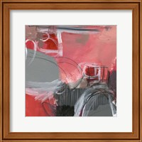 Framed Red & Gray Abstract I