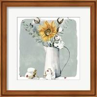 Framed Cotton Bouquet I
