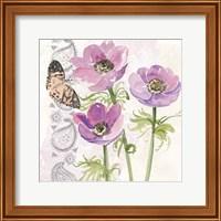 Framed Flowers & Lace I
