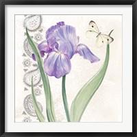 Framed Flowers & Lace III