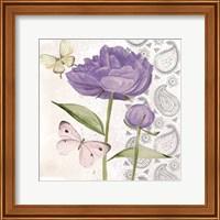 Framed Flowers & Lace IV