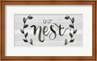 Framed Our Nest is Blessed I