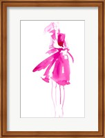 Framed Fuchsia Street Fashion I