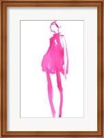 Framed Fuchsia Street Fashion II