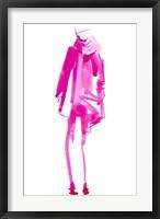 Framed Fuchsia Street Fashion III