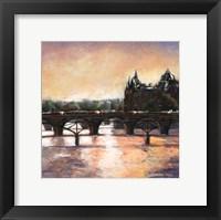 Framed Sunset In Paris