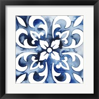 Framed Cobalt Tile II