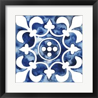 Framed Cobalt Tile III