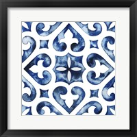 Framed Cobalt Tile VI