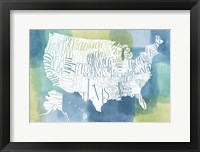 Framed Patchwork USA