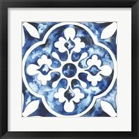 Framed Cobalt Tile I