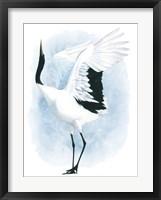 Framed Dancing Crane I