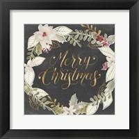 Framed Gilded Christmas I