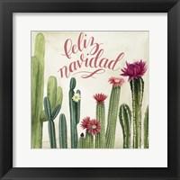 Framed Christmas Cactus I