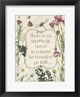 Framed Pressed Floral Quote I