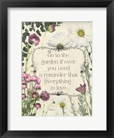 Framed Pressed Floral Quote II