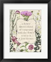 Framed Pressed Floral Quote III