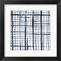 Framed Indigo Ripple V