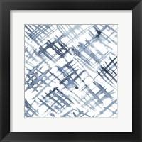 Framed Indigo Ripple VIII