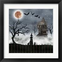 Framed Harvest Moon I