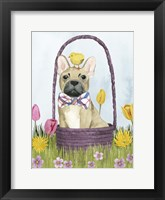 Framed Puppy Easter III