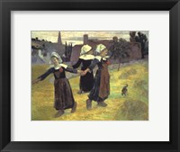 Framed Breton Girls, 1888