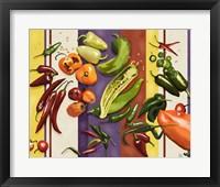 Framed Sarape Peppers I
