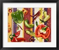 Framed Sarape Peppers II