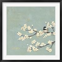 Framed Chickadee & Dogwood I