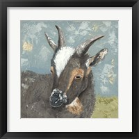 Framed Farm Life-Grey Goat