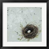 Framed Flower Nest I