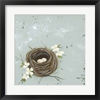 Framed Flower Nest II