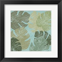 Framed Faded Tropical Leaves II