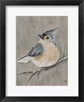 Framed Winter Bird I