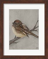 Framed Winter Bird III