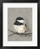 Framed Winter Bird IV