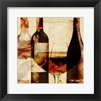 Framed Smokey Wine II