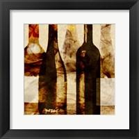 Framed Smokey Wine III