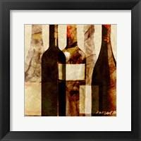 Framed Smokey Wine IV