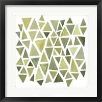 Framed Celadon Geometry II