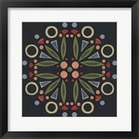 Framed Folk Mandala I