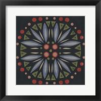Framed Folk Mandala III