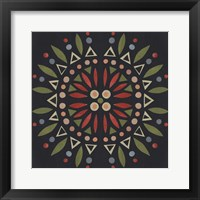 Framed Folk Mandala IV