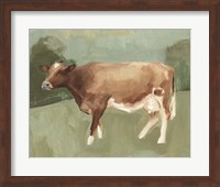 Framed Bovine Field I